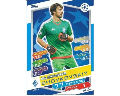 MATCH ATTAX U.C.LEAGUE 2016/2017 FC DYNAMO KYIV Nº 2