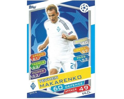 MATCH ATTAX U.C.LEAGUE 2016/2017 FC DYNAMO KYIV Nº 6