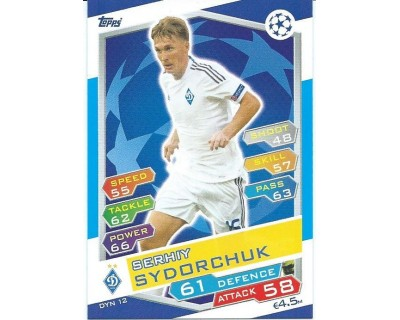 MATCH ATTAX U.C.LEAGUE 2016/2017 FC DYNAMO KYIV Nº 12