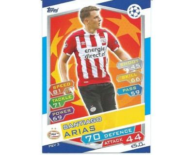 MATCH ATTAX U.C.LEAGUE 2016/2017 PSV EINDHOVEN Nº 3
