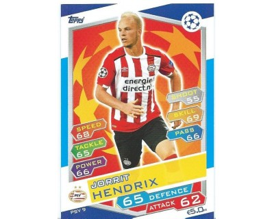 MATCH ATTAX U.C.LEAGUE 2016/2017 PSV EINDHOVEN Nº 9