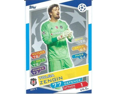 MATCH ATTAX U.C.LEAGUE 2016/2017 BESIKTAS JK Nº 2