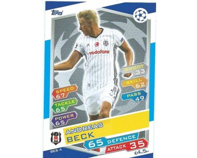 MATCH ATTAX U.C.LEAGUE 2016/2017 BESIKTAS JK Nº 4