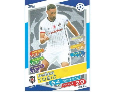 MATCH ATTAX U.C.LEAGUE 2016/2017 BESIKTAS JK Nº 7