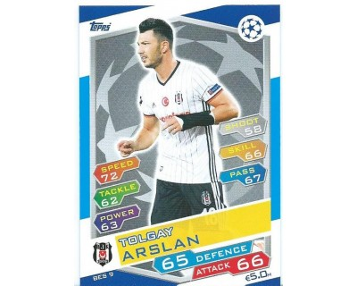 MATCH ATTAX U.C.LEAGUE 2016/2017 BESIKTAS JK Nº 9