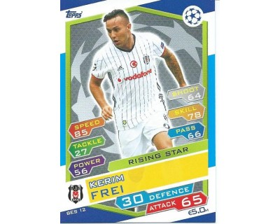 MATCH ATTAX U.C.LEAGUE 2016/2017 BESIKTAS JK Nº 12 RISING STAR