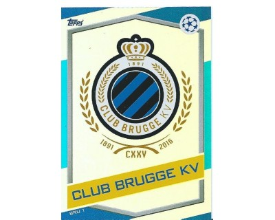 MATCH ATTAX U.C.LEAGUE 2016/2017 CLUB BRUGGE KV Nº 1 ESCUDO