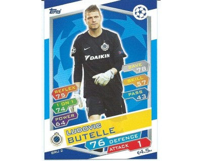 MATCH ATTAX U.C.LEAGUE 2016/2017 CLUB BRUGGE KV Nº 2