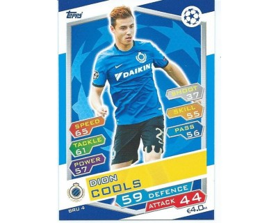 MATCH ATTAX U.C.LEAGUE 2016/2017 CLUB BRUGGE KV Nº 4