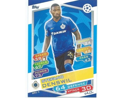 MATCH ATTAX U.C.LEAGUE 2016/2017 CLUB BRUGGE KV Nº 5