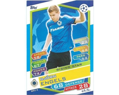 MATCH ATTAX U.C.LEAGUE 2016/2017 CLUB BRUGGE KV Nº 6 RISING STAR