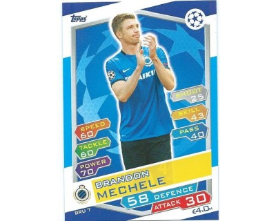 MATCH ATTAX U.C.LEAGUE 2016/2017 CLUB BRUGGE KV Nº 7