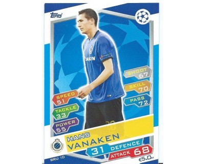 MATCH ATTAX U.C.LEAGUE 2016/2017 CLUB BRUGGE KV Nº 10