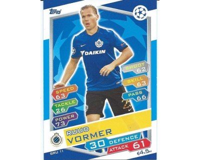 MATCH ATTAX U.C.LEAGUE 2016/2017 CLUB BRUGGE KV Nº 11