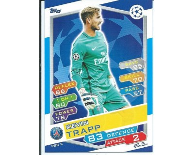 MATCH ATTAX U.C.LEAGUE 2016/2017 PARIS SAINT-GERMAIN Nº 2