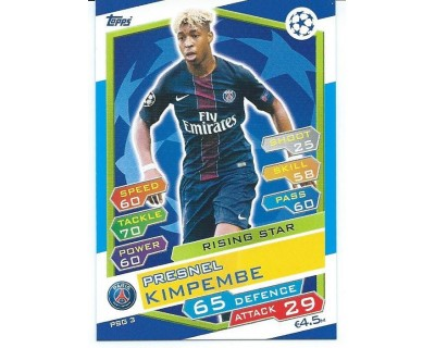 MATCH ATTAX U.C.LEAGUE 2016/2017 PARIS SAINT-GERMAIN Nº 3 RISING STAR