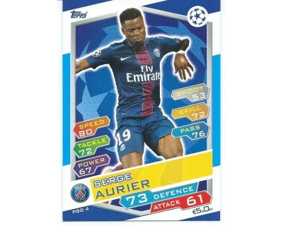 MATCH ATTAX U.C.LEAGUE 2016/2017 PARIS SAINT-GERMAIN Nº 4