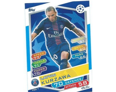 MATCH ATTAX U.C.LEAGUE 2016/2017 PARIS SAINT-GERMAIN Nº 7