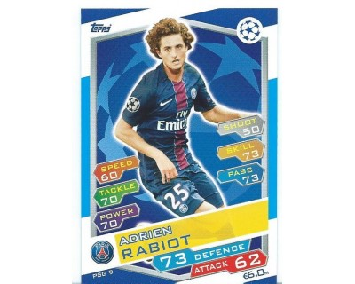 MATCH ATTAX U.C.LEAGUE 2016/2017 PARIS SAINT-GERMAIN Nº 9