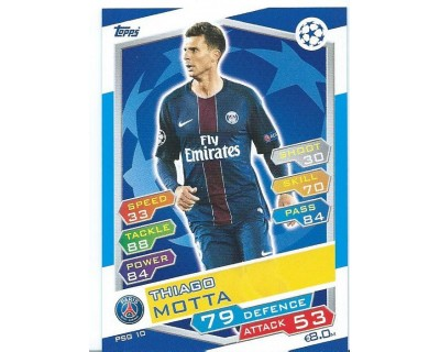 MATCH ATTAX U.C.LEAGUE 2016/2017 PARIS SAINT-GERMAIN Nº 10