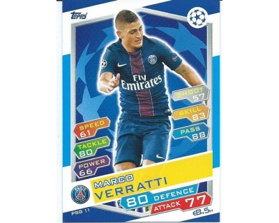 MATCH ATTAX U.C.LEAGUE 2016/2017 PARIS SAINT-GERMAIN Nº 11