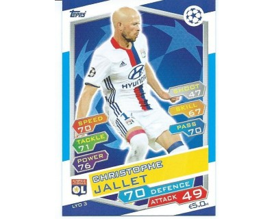 MATCH ATTAX U.C.LEAGUE 2016/2017 OLYMPIQUE LYONNAIS Nº 3