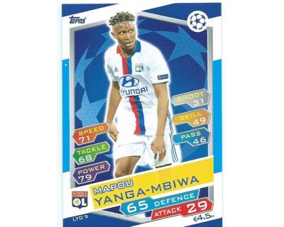 MATCH ATTAX U.C.LEAGUE 2016/2017 OLYMPIQUE LYONNAIS Nº 5
