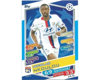 MATCH ATTAX U.C.LEAGUE 2016/2017 OLYMPIQUE LYONNAIS Nº 6