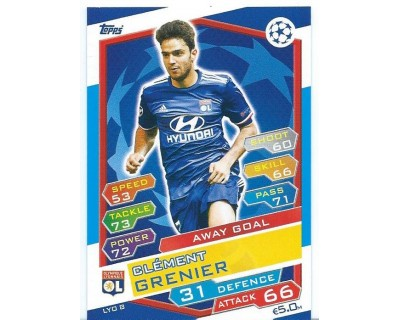MATCH ATTAX U.C.LEAGUE 2016/2017 OLYMPIQUE LYONNAIS Nº 8 AWAY GOAL
