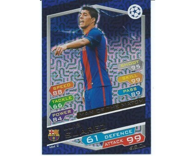 MATCH ATTAX U.C.LEAGUE 2016/2017 LUIS SUAREZ MAN OF THE MATCH Nº 2