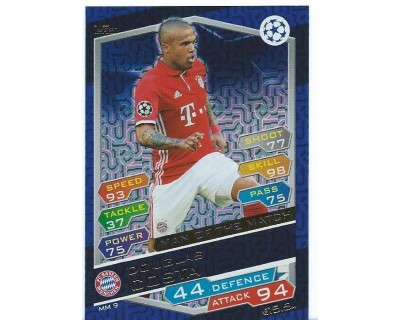 MATCH ATTAX U.C.LEAGUE 2016/2017 DOUGLAS COSTA MAN OF THE MATCH Nº 9