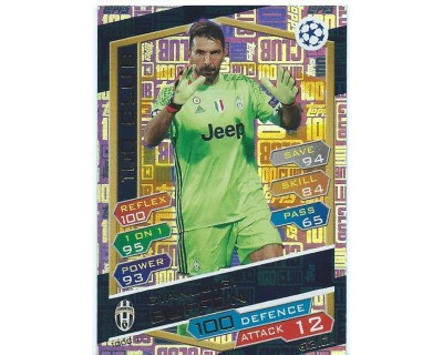 MATCH ATTAX U.C.LEAGUE 2016/2017 GIANLUIGI BUFFON 100 CLUB Nº 1
