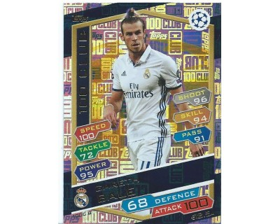 MATCH ATTAX U.C.LEAGUE 2016/2017 GARETH BALE 100 CLUB Nº 8