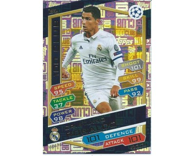 MATCH ATTAX U.C.LEAGUE 2016/2017 CRISTIANO RONALDO 100 CLUB Nº 10