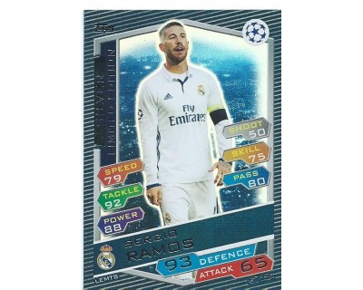 MATCH ATTAX U.C.LEAGUE 2016/2017 LIMITED EDITION SERGIO RAMOS SILVER