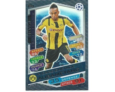 MATCH ATTAX U.C.LEAGUE 2016/2017 LIMITED EDITION AUBAMEYANG SILVER
