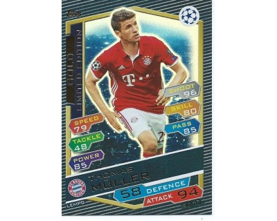 MATCH ATTAX U.C.LEAGUE 2016/2017 LIMITED EDITION MULLER GOLD