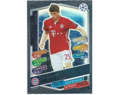 MATCH ATTAX U.C.LEAGUE 2016/2017 LIMITED EDITION MULLER SILVER