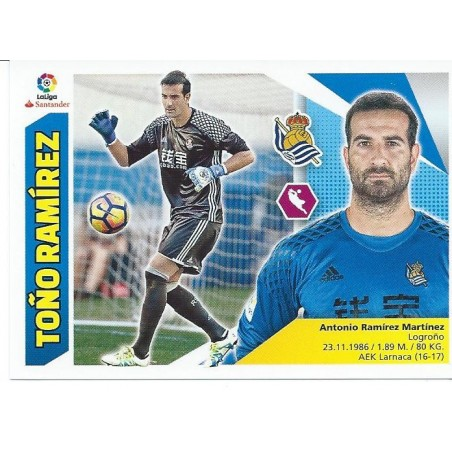 Liga Este 2017/2018 TOÑO RAMIREZ Real Sociedad Nº 2