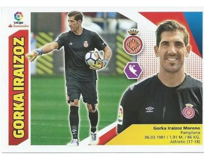 Liga Este 2017/2018 GORKA IRAIZOZ Girona C.F. Nº 1 SEGUNDA EDICION