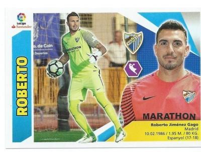 Liga Este 2017/2018 ROBERTO Málaga C.F. Nº 1 SEGUNDA EDICION